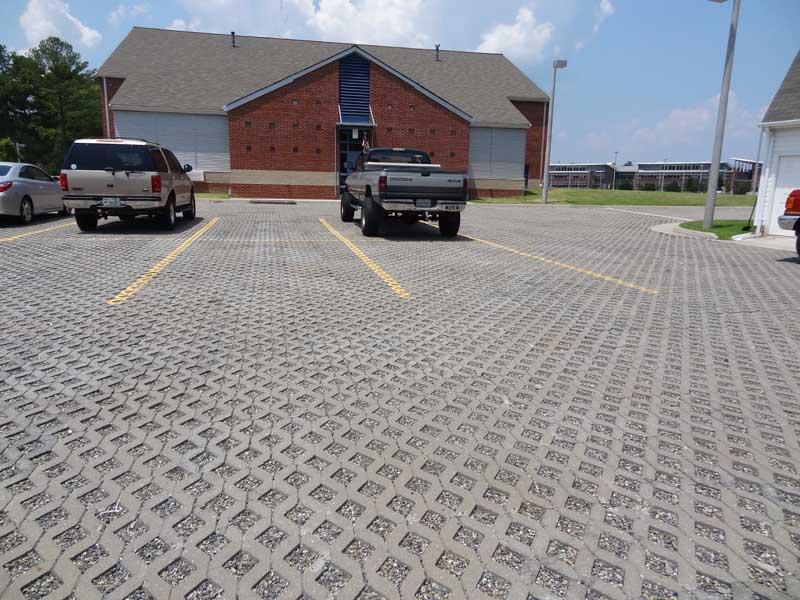 beach parking lot pavers